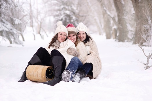 3 women happy